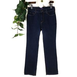 Like New NYDJ Deep Wash Straight Leg Jeans 8P